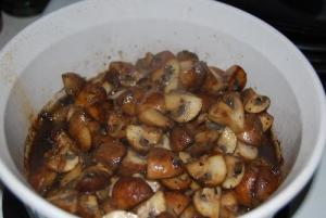 mushrooms & onions
